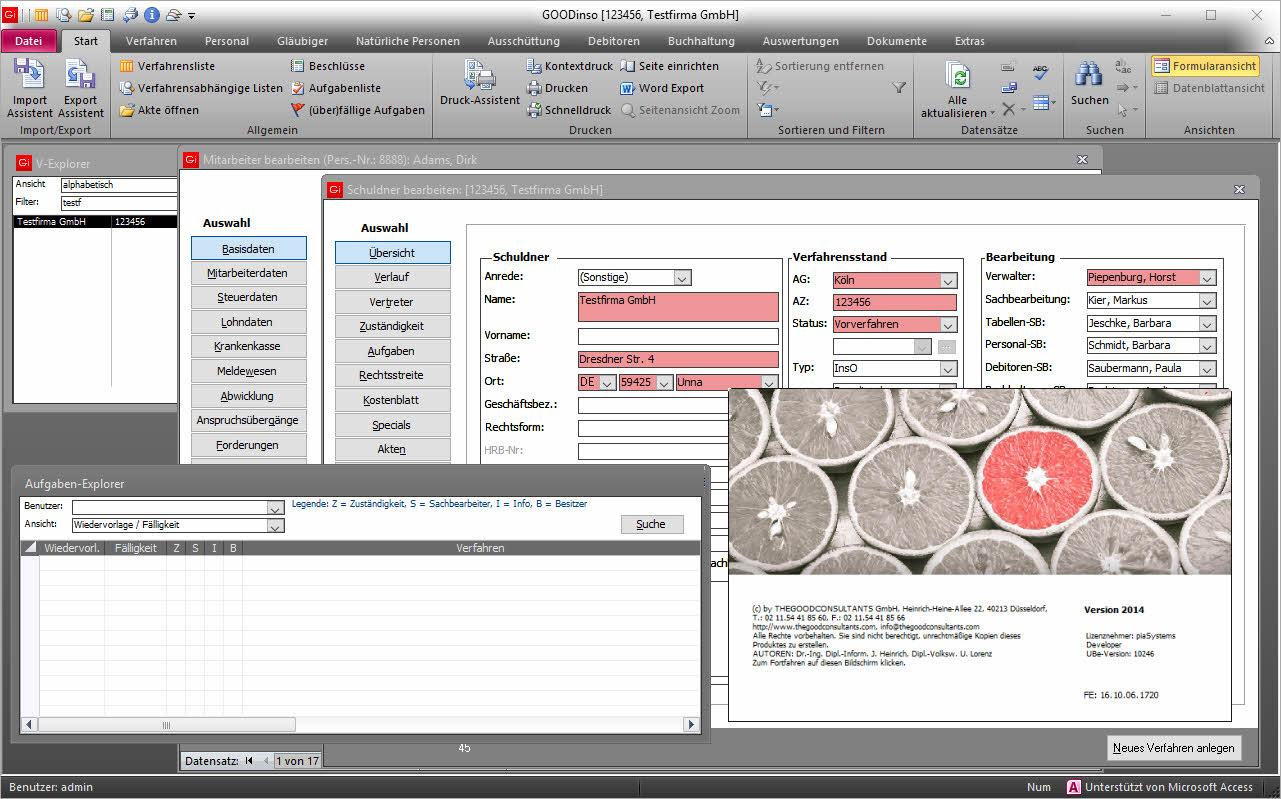 Insolvenzsoftware - GOODinsO, Differenzlohn und Lohnabrechnung